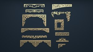 3D cartouche decor onlay