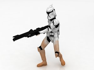 3D star wars stormtrooper
