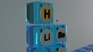 3D periodic table glass