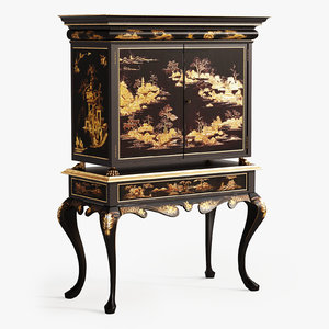 chinoiserie cabinet 3D model