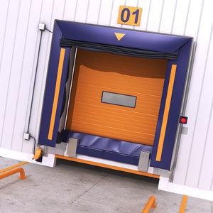 3D model warehouse door exteriror 1