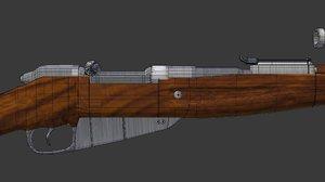 22 rifle 3D model
