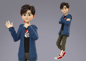 teenager boy 3D