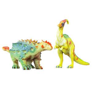 3D toys dinosaurs parasaurolophus euplocephalus model