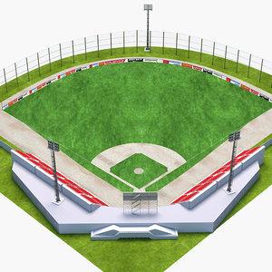 baseball base stadium 3D model