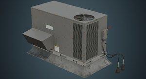 3D rooftop ac unit 2b model