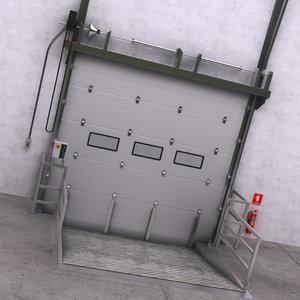 warehouse door interior 1 3D