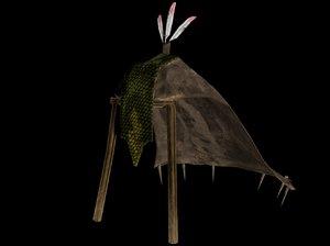 3D argonian tent model