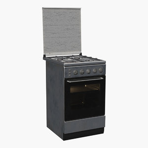 gas range old 3D model