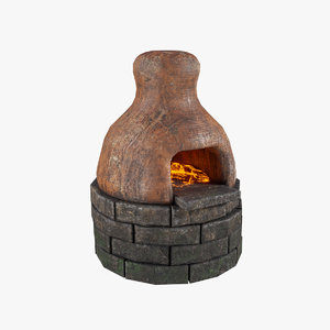 3D clay oven