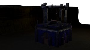 dungeon crypt 3D model