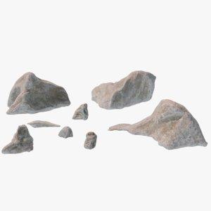 small rocks 3D model