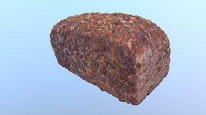 3D sunflower seed bread hy model