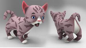3D cartoon cat animation