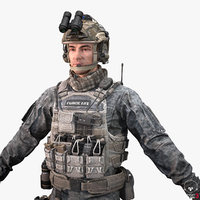 Soldier Captain Police Full Set Accessories and Weapon