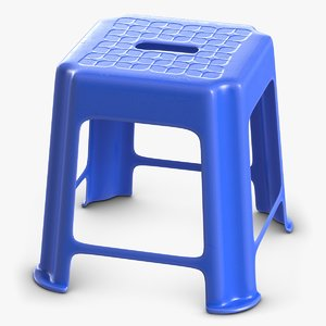 3D hard plastic stool