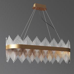 3D oval luminaire chandelier model