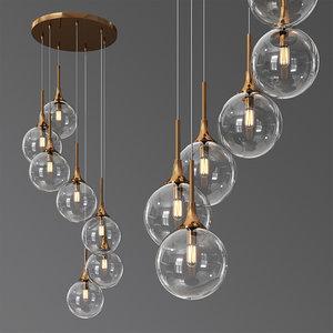 3D arteriors mckinley fixed chandelier