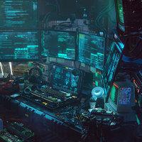C4D Redshift Cyberpunk Hacker Scene