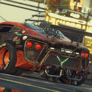 3D model drift car octane scene