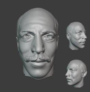 poet cemal sureyya 3D model
