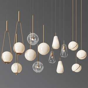 3D - pendant light 11 model