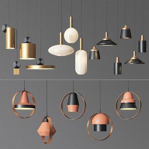 3D model 4 celing light 01