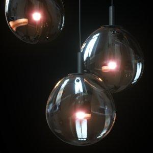 3D cantina medium led pendant model