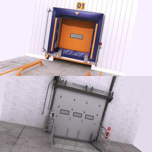 warehouse door interior exteriror model
