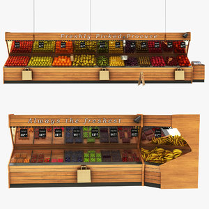 fruit display stand model