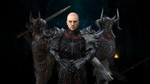 knight dragon 3D model