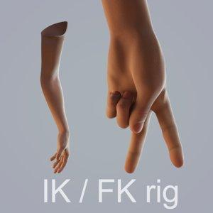 hand skin 3D model