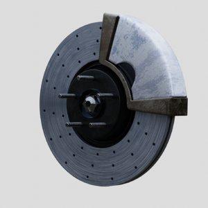 vehicle brake disc caliper model