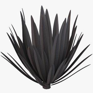 3D flax platt black model