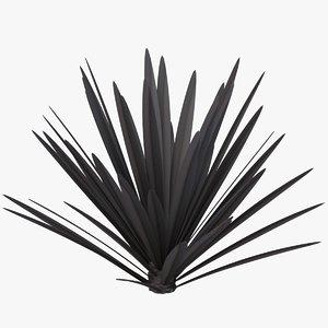 flax platt black 3D model