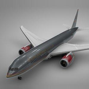 3D boeing 787 dreamliner royal model