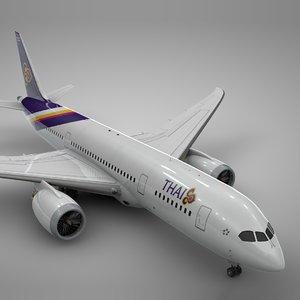 boeing 787 dreamliner thai airways 3D