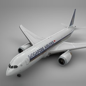 boeing 787 dreamliner singapore 3D model