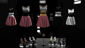 3D dress stylish packs shoes