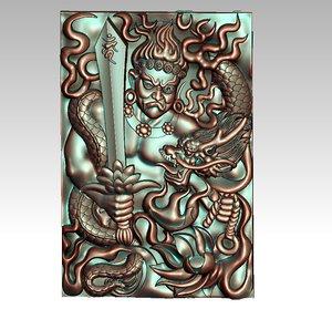 bodhisattva dragon model