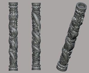 3D dragon pillar