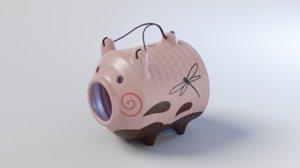 incense burner pig 3D model