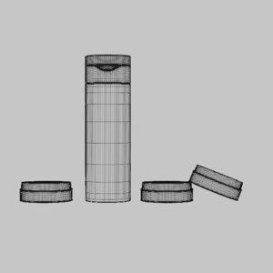 blank cosmetic bottles tubes 3D model