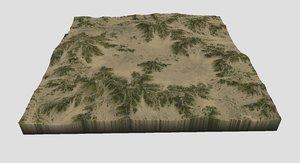 3D model terrain maps
