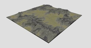 3D valley terrain