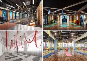 gym interior 3D