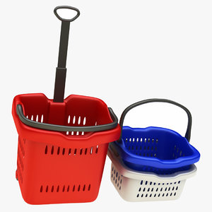 3D shopping cart basket