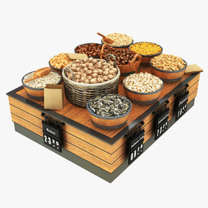nut display stand 3D model