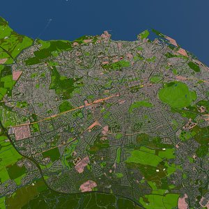 3D edinburgh united kingdom model