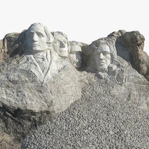 3D mount rushmore national memorial